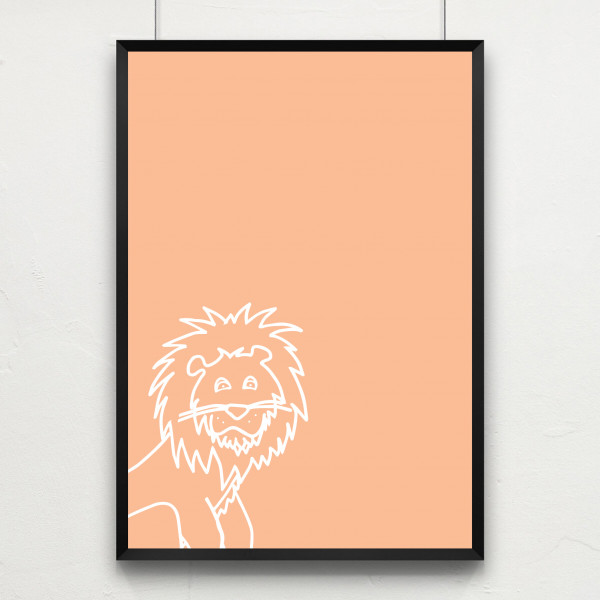 Kunstdruck little lion