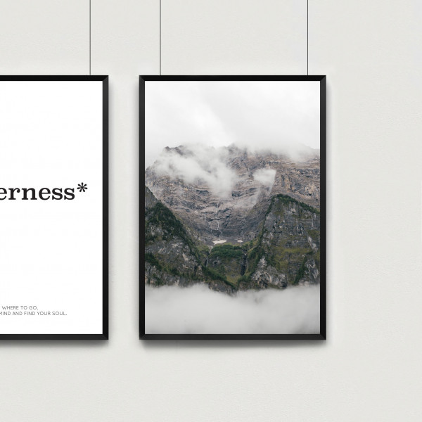Kunstdruck mountain view
