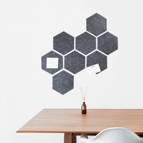 Filzpinnwand/Memoboard Hexagon
