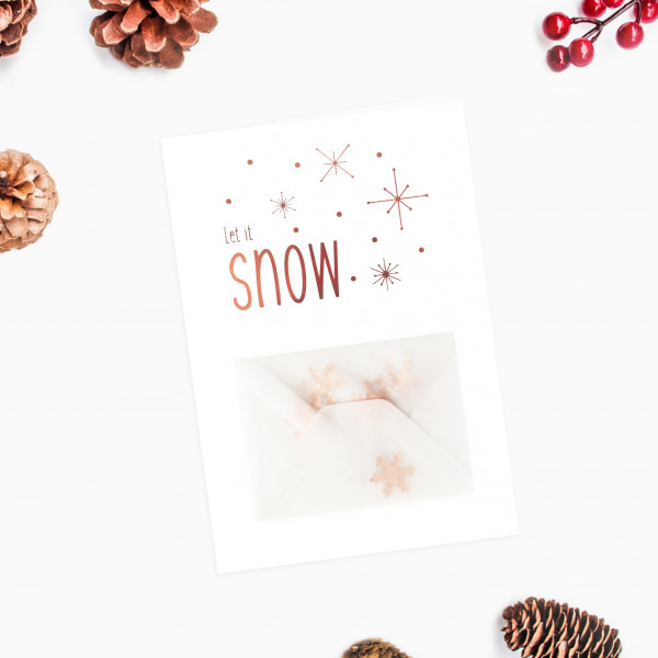 Klappkarte Let it snow