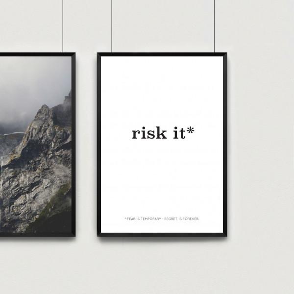 Kunstdruck risk it