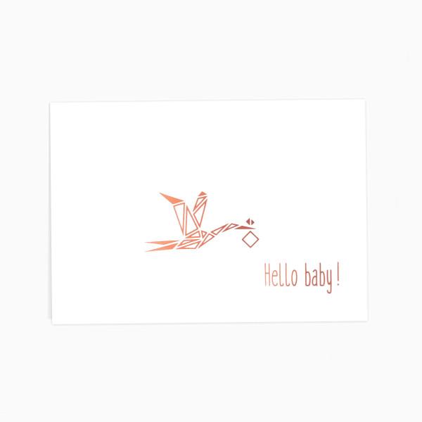 Glückwunschkarte Hello baby!