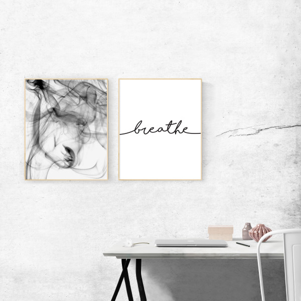 Kunstdruck-Yoga-breathe-set