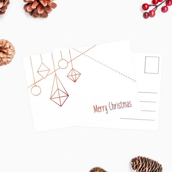 Postkarte Merry Christmas