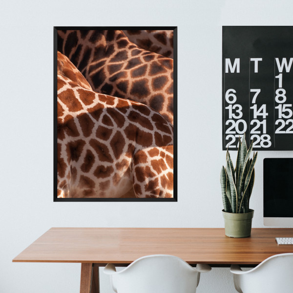 Kunstdruck Giraffe