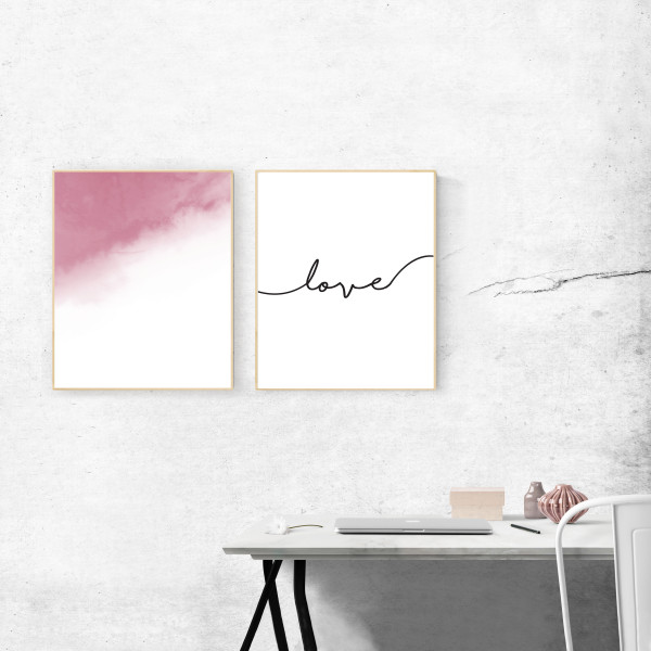 Kunstdruck-Yoga-love-set