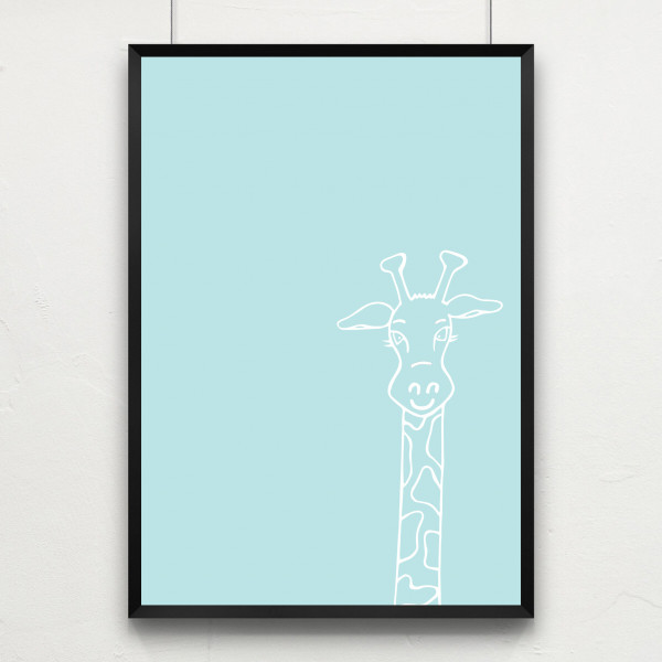 Kunstdruck little giraffe