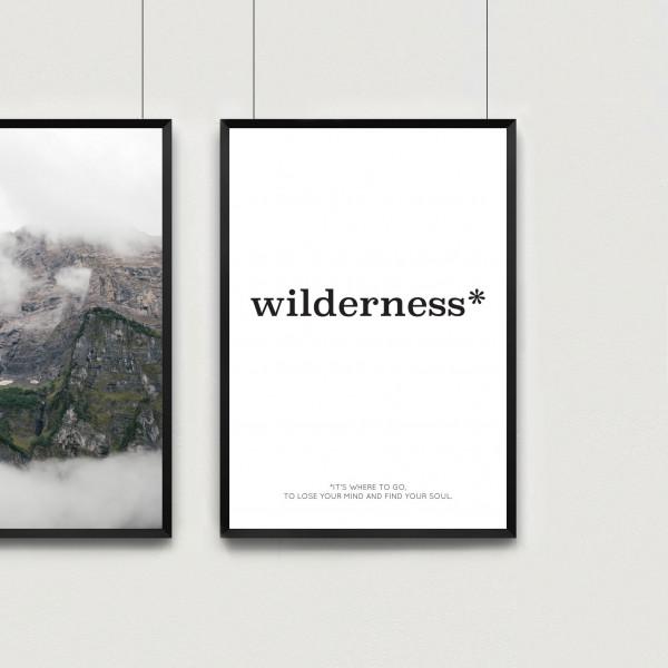 Kunstdruck wilderness