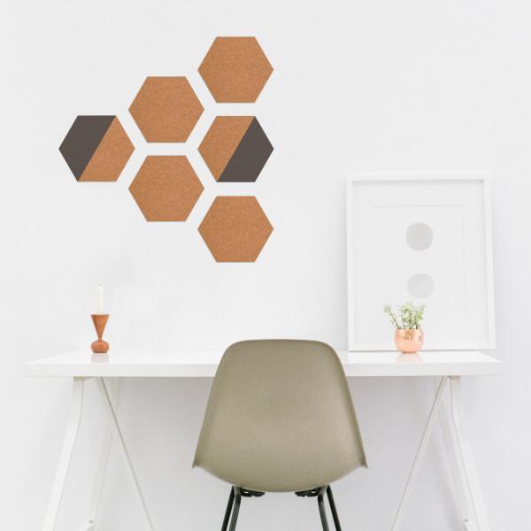 Korkpinnwand/Memoboard Geometric